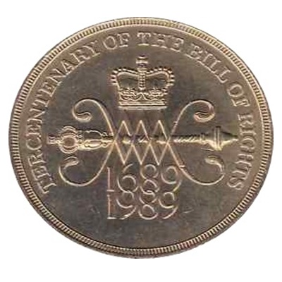 1989 £2 Coin - Tercentenary The Bill of Rights